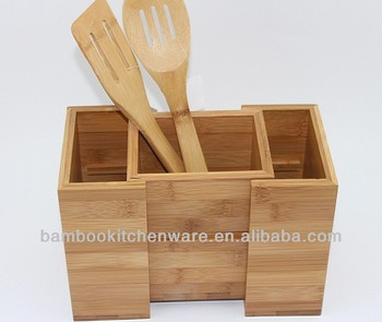 Bamboo/wooden Kitchen Utensil Holder - Buy Kitchen Utensil Holder,Utensil  Holder,Wooden Utensil Holder Product on Alibaba.com