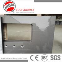 ZQ3007 Polished grey artificial quartz stone worktops price for sales