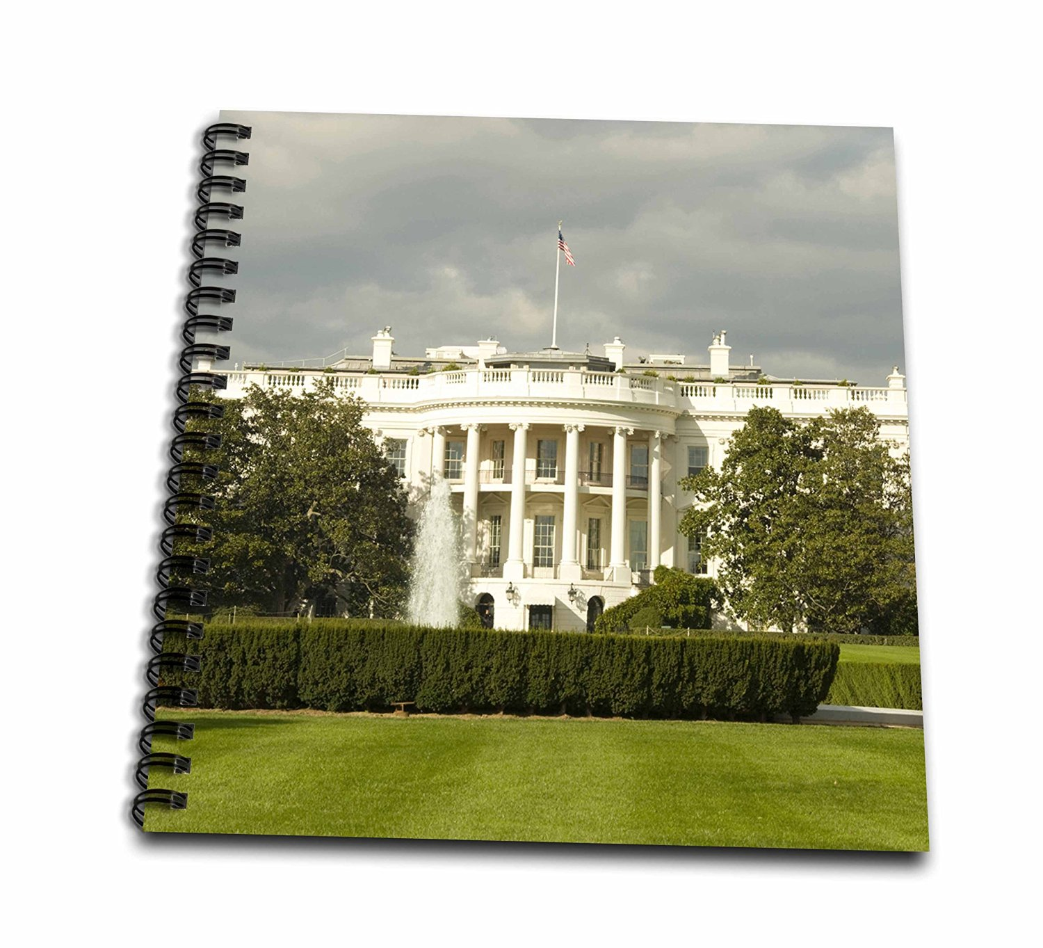 """3D Rose db_143511_1 3dRose USA, Washington DC, White House, US Presidential Home-US09 LFO0158-Lee Foster-Drawing Book, 8 by 8-inch, 8"""" x 8"""""""