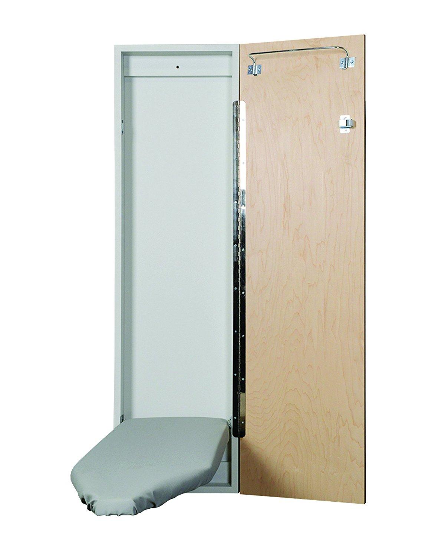 Iron-A-Way Economy Surface Or Flush Mount Ironing Center, Flat White