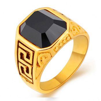 51420332e160 Joyería de moda negro grabado de piedras preciosas 3 GRAMPS anillo de oro  precio para hombre