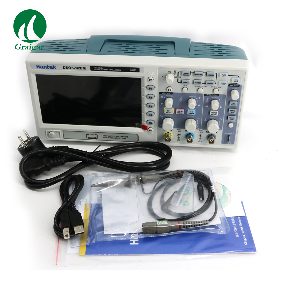 DSO5202BM Digital Storage Oscilloscope,2 Channels 200MHz 1GSa/s, 2M Record Length