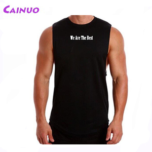 Cutted Sleeves Tank Tops Men Gym Singlet