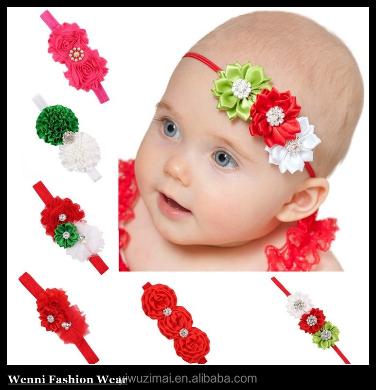Girl Baby Kids Toddler Infant Flower Rhinestone Headband Hair Accessories Band