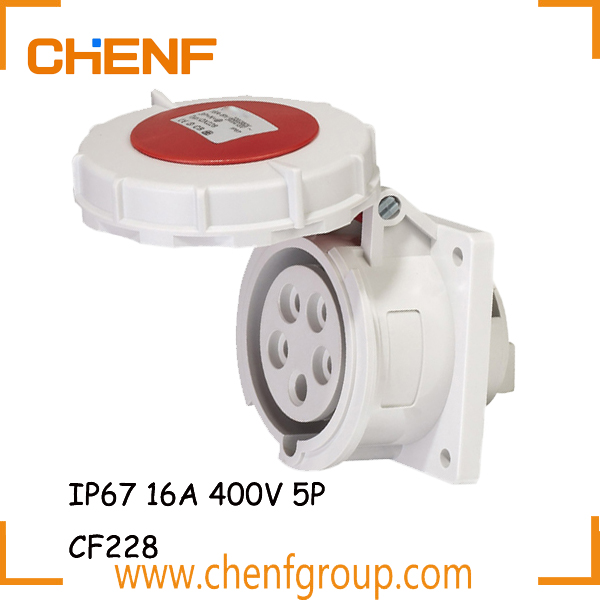 Factory Best Price Industrial Plug And Socket 400V, 16 Amp Industrial Socket, Industrial Panel Mounted Socket Outlet