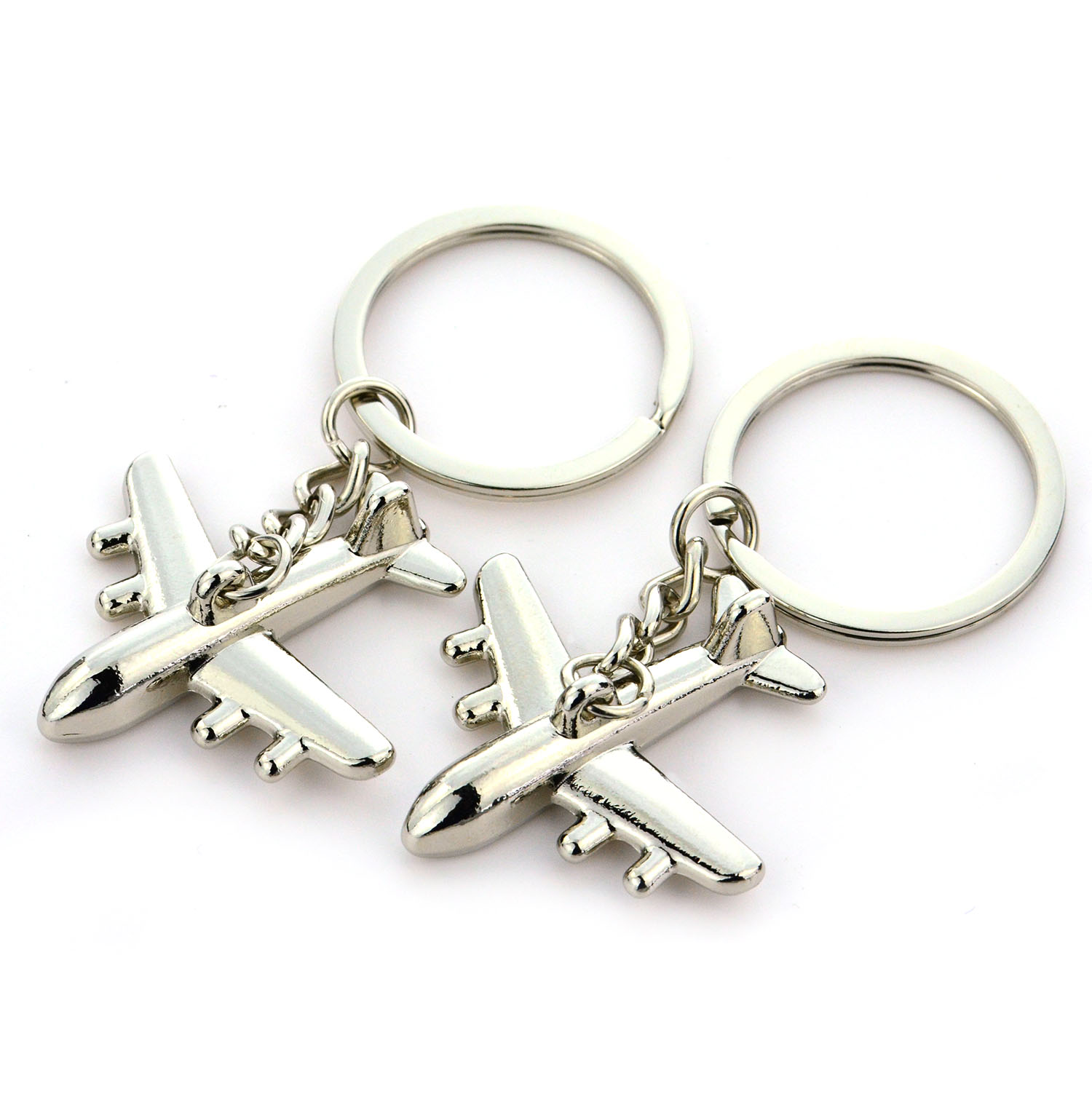 Key chain Factory Wholesale Custom Metal zinc alloy Airplane KeyChain