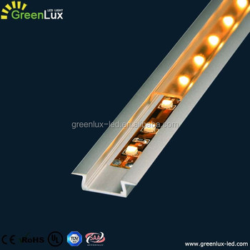 Plastic Cover Aluminum Led Profile Extrusion Strip Light Housing Channel For Kitchen Cabinet Lighting