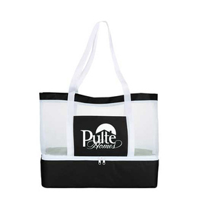 73ce4b680cf4 wholesale large capacity nylon mesh beach tote bag with bottom cooler  compartment