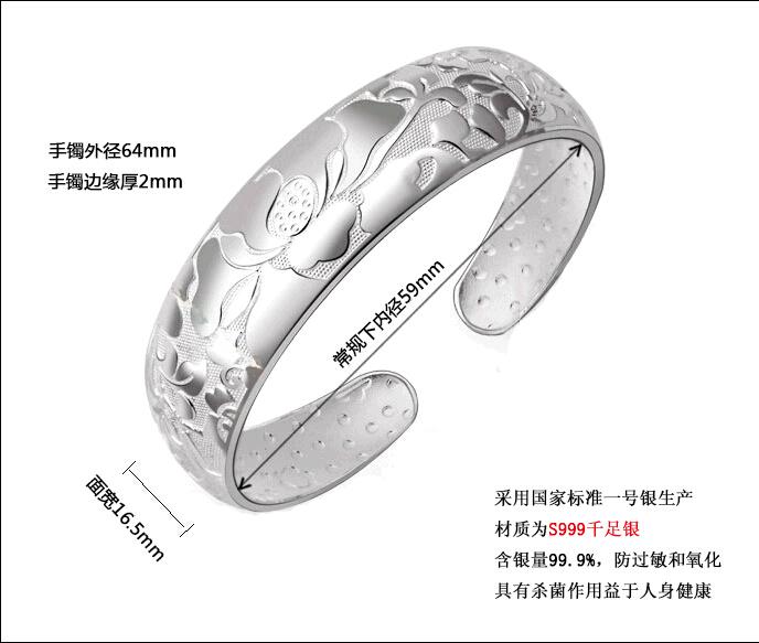 2015Hot продать Lotus браслет S925 понравилось в Lotus говоря браслет 990 серебро женщины YX-B98