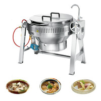 XYGT -80 Stainless steel jacketed gas kettle/tilting jacketed kettle for soup cooking