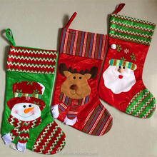 Brand design wholesale christmas stockings promotion Christmas decor party decorations Santa Claus Christmas stocking candy sock