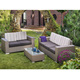 Mixarts living room furniture plastic poly all weather rattan sofa set