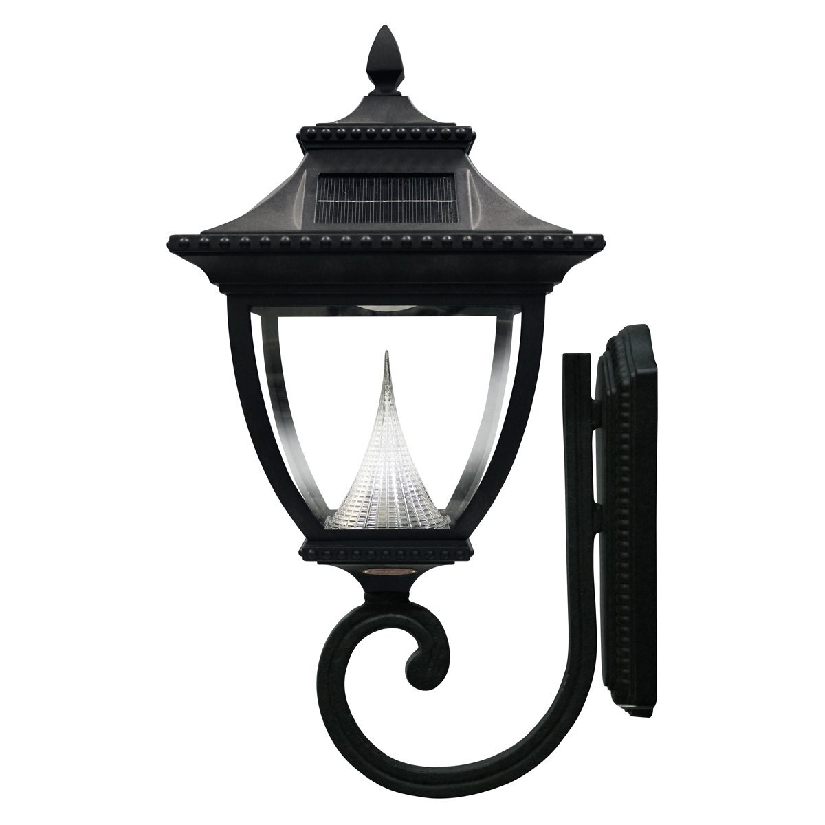 Gama Sonic Pagoda Solar Outdoor Wall Light GS-104W - Black Finish