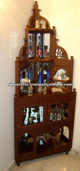 Wooden Hand Carved Corner Cabinet Furniture From India Antique Wood Cabinets