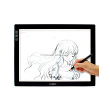 Langder Slim LED Adjustable Tracing Drawing Board Tattoo Light Box Illuminated Copy Board A4 LED Light Pad for Students