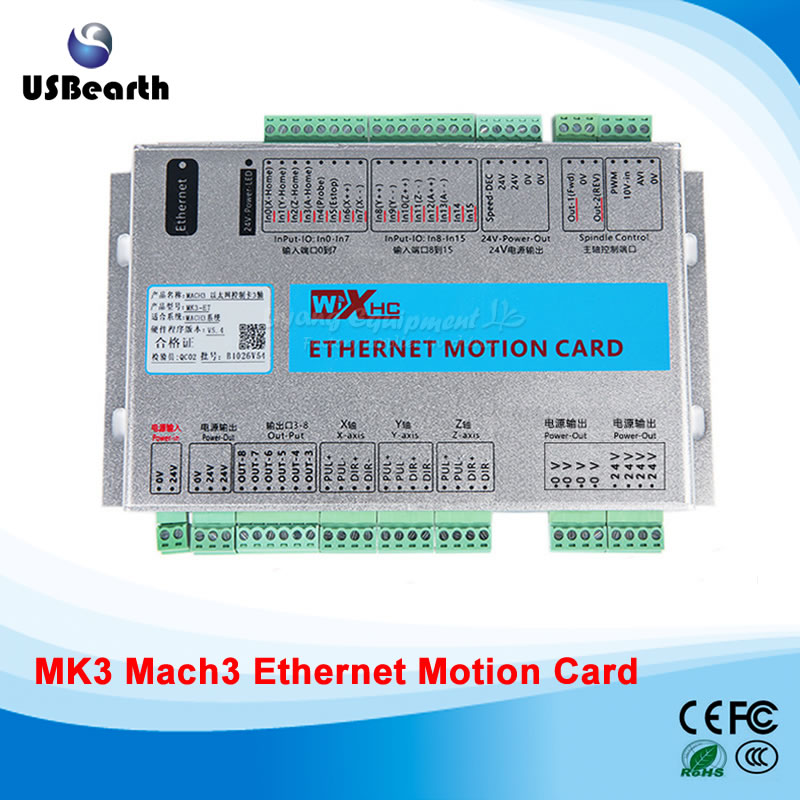 Original XHC MK3 3 axis CNC Mach3 Ethernet Motion Control Card Breakout Board 2MHz Support Win7
