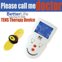 2014 new digital electric device tens neck therapy massager instrument home use infrared ems body stimulator
