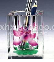 Promotional office supply gift crystal pen containers