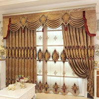 2019 High Quality Luxury Drapes Curtain Design Fabric With Fancy Valance Curtains For The Living Room cortinas