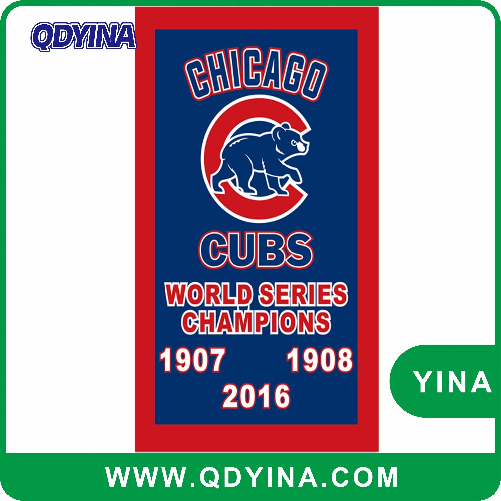 3x5ft from Chicago team cubs from 1907until 2016 champions vertical flag with gromments by digital printing