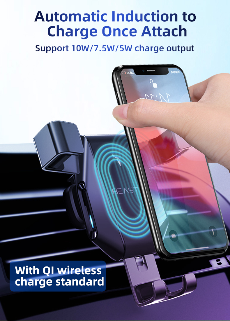 Factory price car phone holder wireless charger for phone