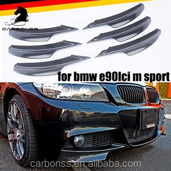 394aba2366b Carbon Fiber Front Bumper Splitter Lips For BMW 3-Series E90 LCI M-tech