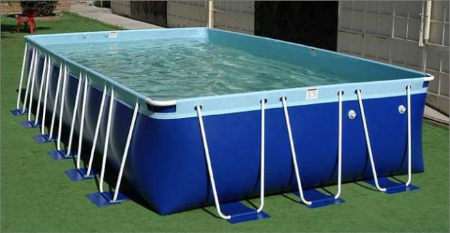 2016 new design rectangular above ground swimming pool Square swimming pools for sale