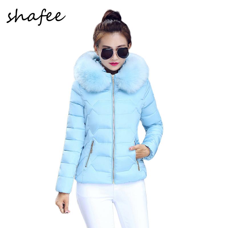 Плюс Size2015 белая утка пуховик толстый большой меховой воротник капюшон вниз ветровки женские зимние пальто Большой размер SF075