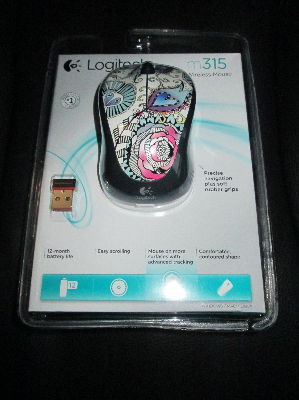 Cheap Logitech Wireless Mouse Driver Find M187original Get Quotations Optical M315 Floral 910 002952