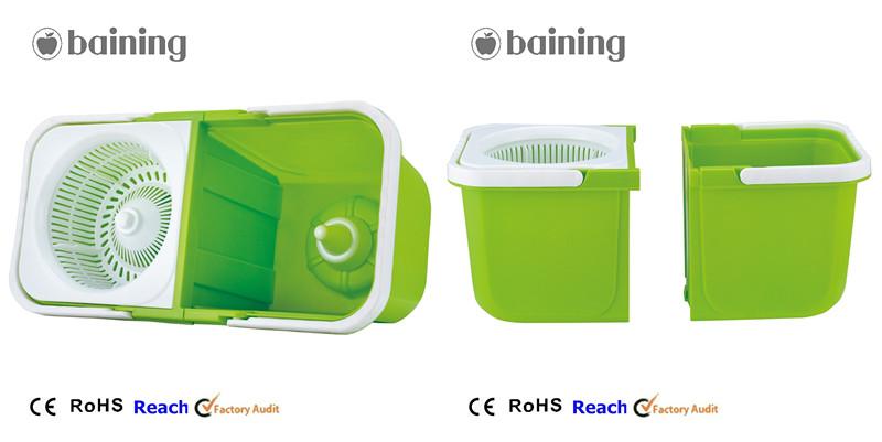 Household mop housekeeping equipment cleaning trolley double bucket (5).jpg