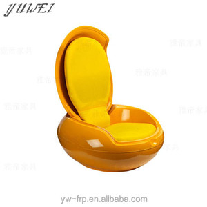 Fashion Comfortable High Quality Design Lounge Chair Colorful Fiberglass Garden Egg Chair Round Arm Chair