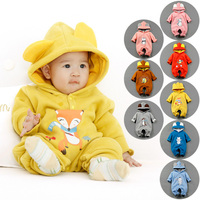 Wholesale Newborn Baby Clothes Natural Organic Cotton Cute Cartoon Pattern Infant Romper