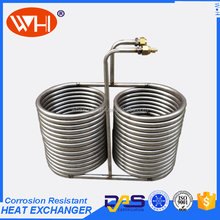 cooling coil for reaction, titanium spiral heat exchanger, cooling pipe stainless steel bending