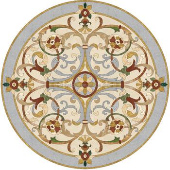Hot Stone Tile Round Marble Medallion Floor Design Waterjet Mosaic Patterns Supplier