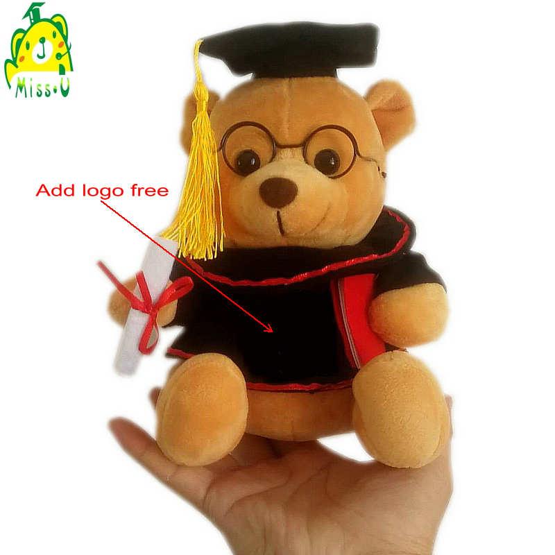 Customized promotional plush teddy beats graduation souvenirs gifts