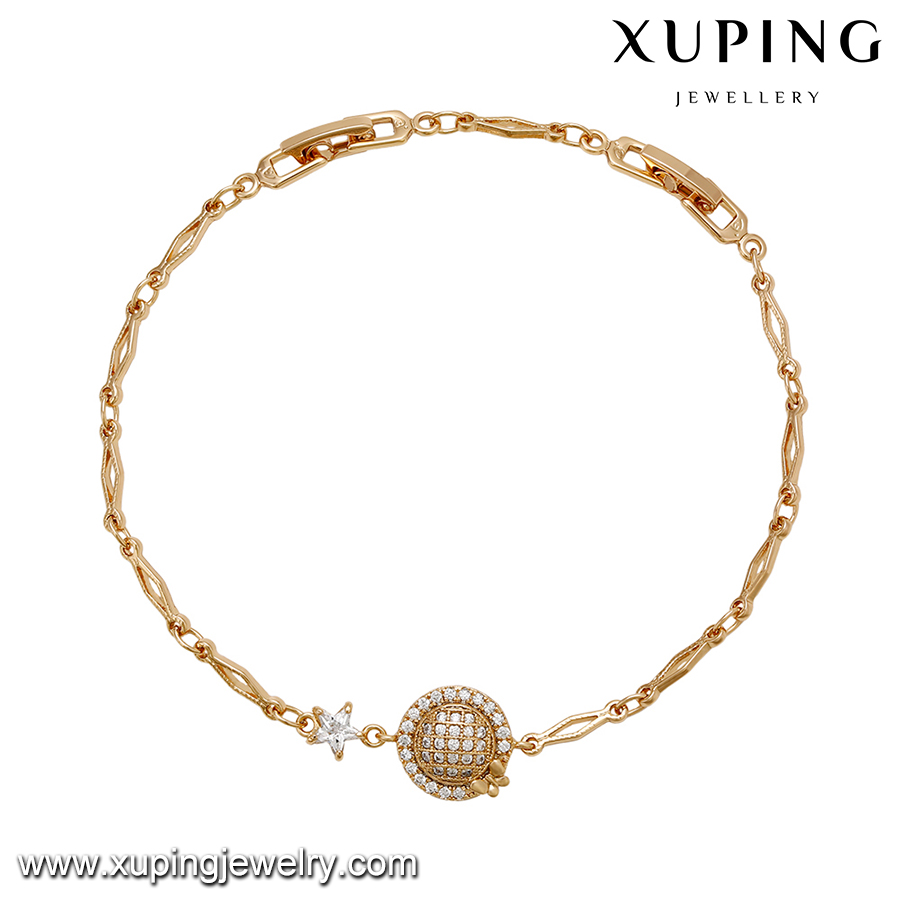 72250 Xuping hot selling Eco-friendly magnetic 18k gold filled bracelet factory price in alibaba