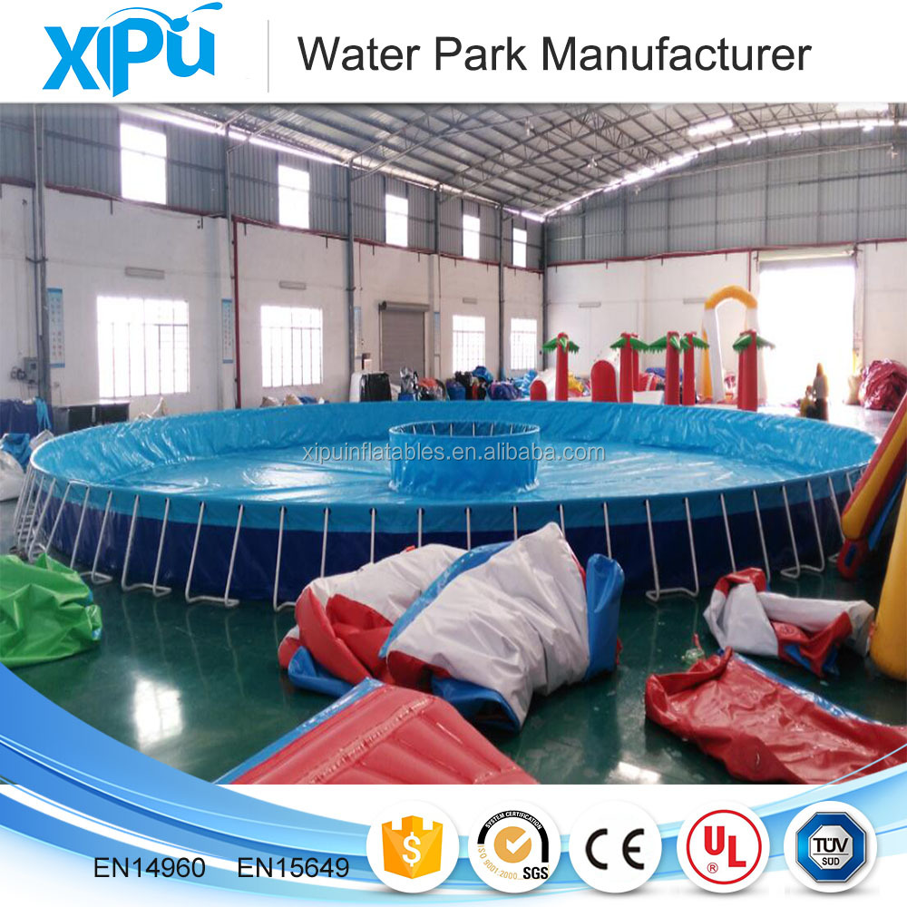 New type outdoor steel frame swimming pool with ladder