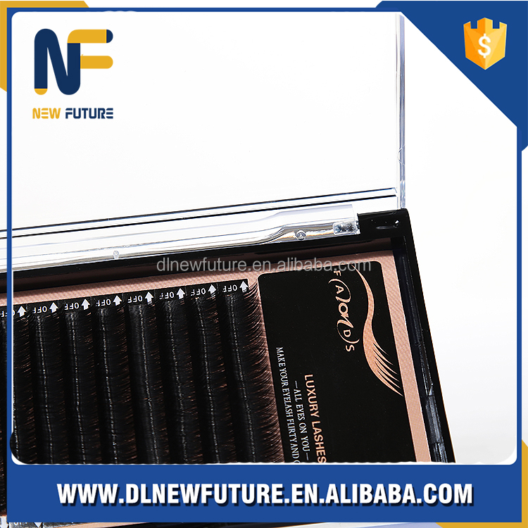 All sizes high quality synthetic mink natural mink /silk individual eyelash extension