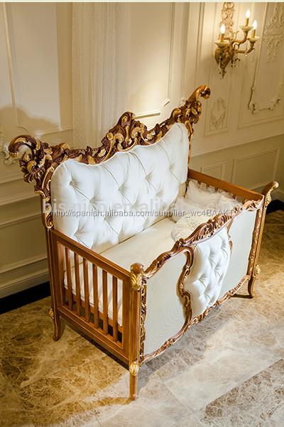 italiano mobiliario de dormitorio estilo lujo nios marco de madera maciza lecho muebles de la
