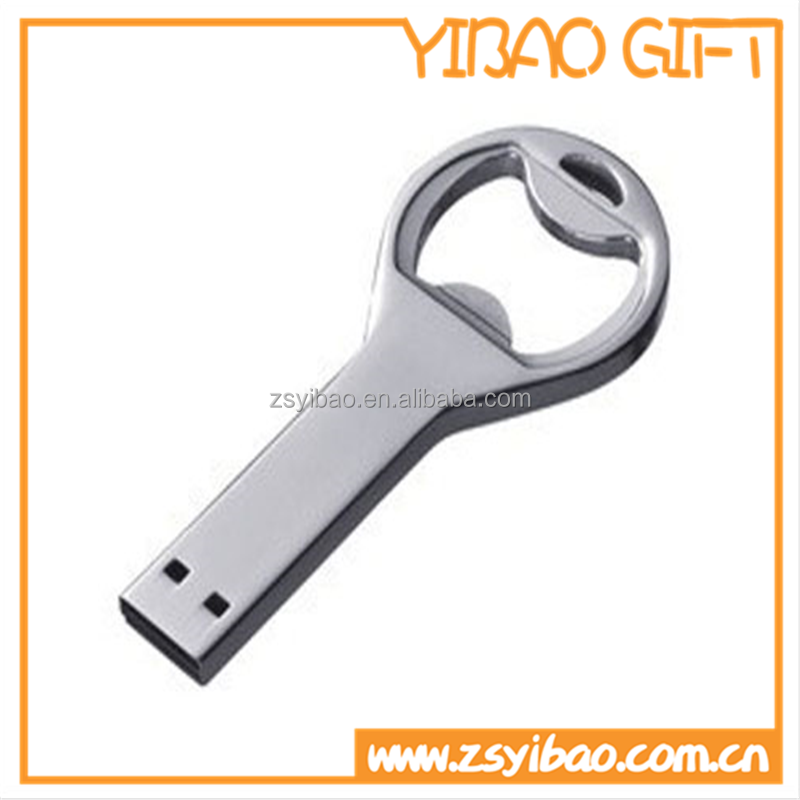 Customized Stainless steel USB Pendrive USB Bottle Opener
