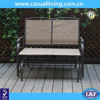 Tremendous 2 Seater Cast Aluminum Rocking Chair Loveseat Glider Bench In Sling Fabric Seat Back For Patio Outdoor Garden Bench Buy Glider Bench Outdoor Garden Customarchery Wood Chair Design Ideas Customarcherynet