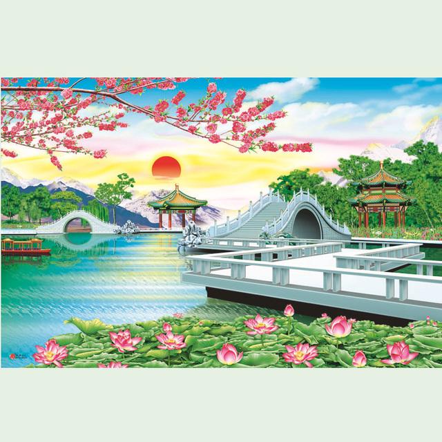 2015 Latest Modern Sunrise Landscape Painting Buy Sunrise