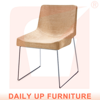 Wholesale Restaurant Furniture Romantic Cafe Sponge Fabric Chair Colorful  Linen Chair Living Room Chair For Sale