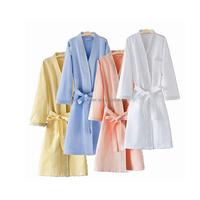 Animal design hotel white cotton terry bathrobe