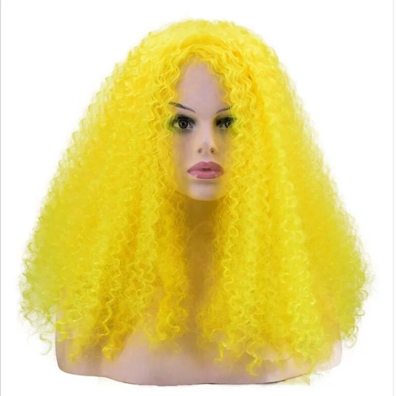 BLACK RED AND YELLOW AFRO WIG German Flag World Cup Supporter Fancy Dress Wig
