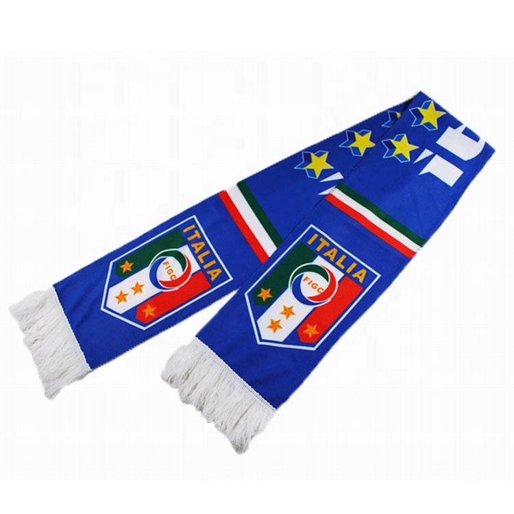China OEM High Quality Wholesale Advertising Soccer Printed Fan Scarf