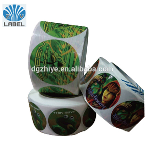 High quality waterproof custom stickers ,round circular roll stickers custom ,custom paper die cut seal stickers