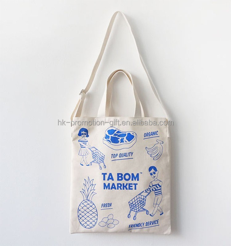Wholesale Cosmetic Packaging Canvas Sling Bag Cotton With Double ...