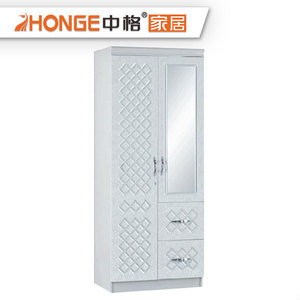 Modern Style Indian 2 3 4 Doors Wooden Wardrobe Closet White PVC Bedroom Wardrobe Designs
