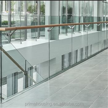 Konkurrenzfahiger Preis Holz Gelander Gehartetem Glas Balkon